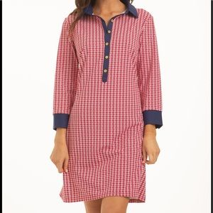 NWT Cabana Life Red Button Down Dress SIze Large